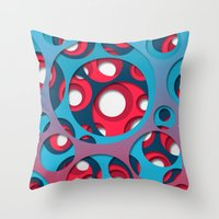 vertigo Throw Pillows featuring Vertigo by Azarias