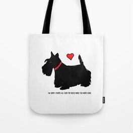 Scottish Terrier Dog-I'm Sorry (red heart) Tote Bag
