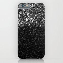 Black & Silver Glitter Gradient iPhone Case