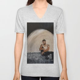 Giveon,album,take time,oil painting,small canvas,art,original,poster,fan art,cool,dope,wall decor,ab Unisex V-Neck