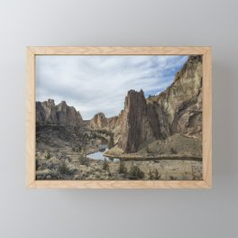 Between a Rock and a Hard Space Framed Mini Art Print