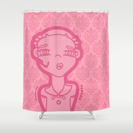 AGATHA pink (duvet) Shower Curtain