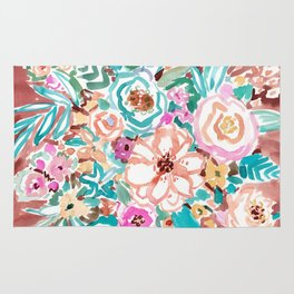 SMELLS LIKE COFFEE BY THE OCEAN Floral Rug