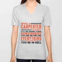 Being a Project Manager Is Easy Shirt Everything On Fire Unisex V-Neck