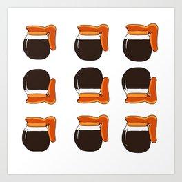 Coffee coffee coffee Art Print