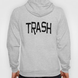 Trash print black Hoody