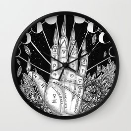 PALMISTRY Sandi Ray Pierce Wall Clock