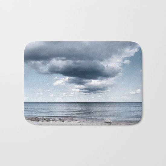 Looking for the clouds - Beach Ocean Sea Cloud Water Landscape on #Society6 Bath Mat