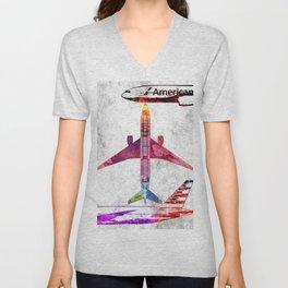 American 777 Unisex V-Neck