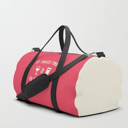 Wine & Coffee Funny Quote Duffle Bag