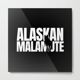 Alaskan Malamute Breed Lover Metal Print
