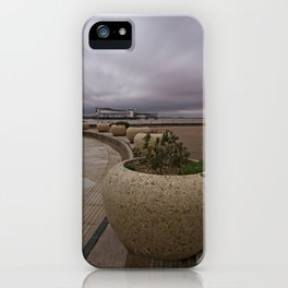 Weston-Super-Mare Seafront View Towards The Grand Pier iPhone Case