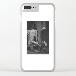 Waiting for the Whip 2# Nude woman whipped Clear iPhone Case