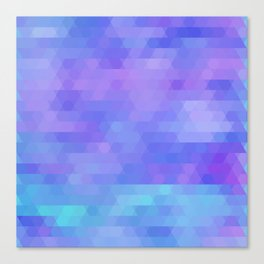 Athena abstract geometric in purple, aqua Canvas Print