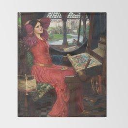 "John William Waterhouse - ""I am half sick of shadows"" said the Lady of Shalott Throw Blanket"