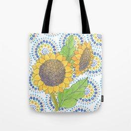 Sunflower-Wallflower by Sandy Thomson Tote Bag