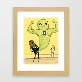 """Members"" of the Justice League: Green Lantern Framed Art Print"