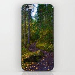 Walking along the Berg Lake Trail in Fall iPhone Skin