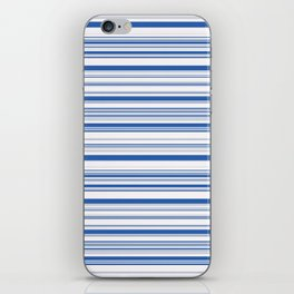 White Blue Candy Lines iPhone Skin