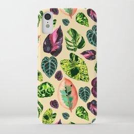 People's Plants Pattern iPhone Case