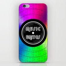 music unites iPhone Skin