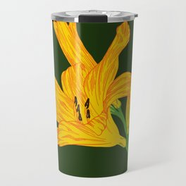 Blooming Lily / Yellow and Red Travel Mug