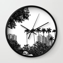 asc 596 - La fille de Rio (The adventure in Rio) Wall Clock
