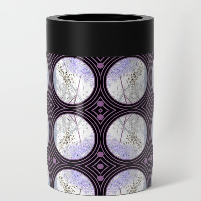 Nature Portals in Periwinkle, Rose & Black Can Cooler