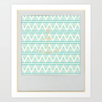 anchors Art Prints featuring anchors by taylor st. claire