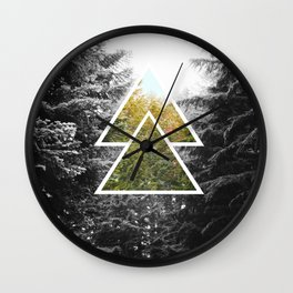 Forest, Black and White photo, nature photography, hipster wallpaper, nature, oregon Wall Clock