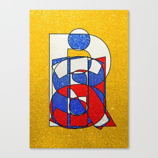 RUSSIA - Gold - Glitter Canvas Print