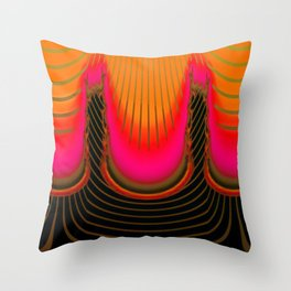 Darkness and light are sisters ... Throw Pillow