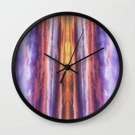 Pastel cloud pillars Wall Clock