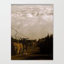 Ski Lift Into the Clouds Canvas Print