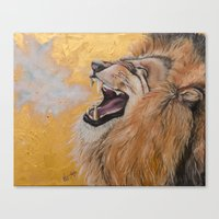 fierce Canvas Prints featuring Fierce by NicoleFaye