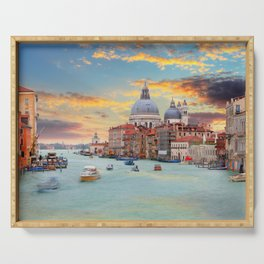 Grand Canal in Venice, Italy Serving Tray