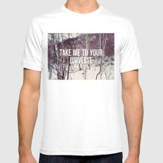 Take Me To You Universe Mens Fitted Tee White MEDIUM