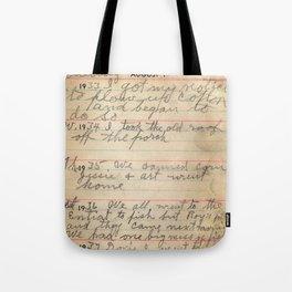 Great Grandpa's Diary Tote Bag