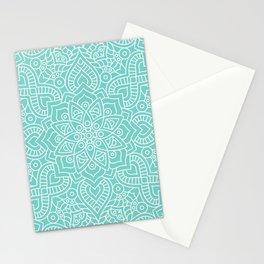 Turquoise Mandala Stationery Cards