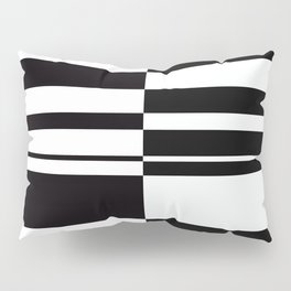 Abstract striped pattern. black and white . Pillow Sham