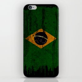 Brazil grunge vintage Flag iPhone Skin