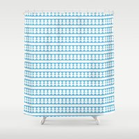 greece Shower Curtains featuring Blue Greece by Rosa Brualla