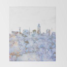 Lincoln Nebraska Skyline Throw Blanket