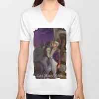 les mis V-neck T-shirts featuring Les Misérables by Bread Sports