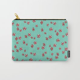 Peppermint Candy in Aqua Carry-All Pouch