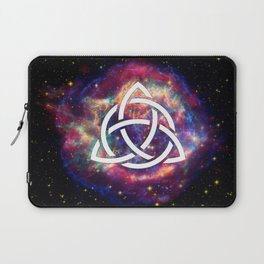 galaxy with triquetra  Laptop Sleeve
