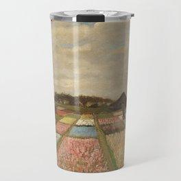 Classic Art - Flower Beds in Holland - Vincent van Gogh Travel Mug