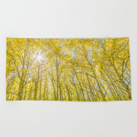 Nevermind The Trees Beach Towel