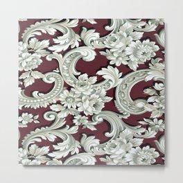 Floral Pattern Wallpaper Metal Print