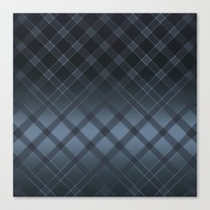Dark gray pattern in the forward cage on satin grey background . Canvas Print